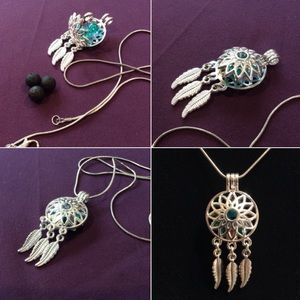 Jewelry - Dream catcher gem cage pendant. Pick your own gems